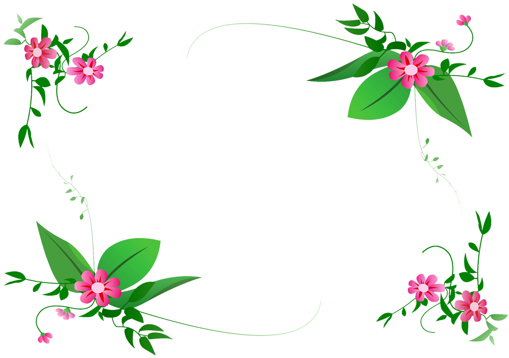 flower-border-vector PNG | My Blog