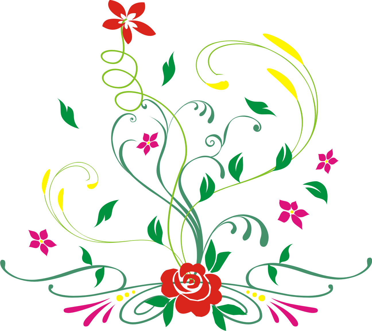 Floral Vector Thingy By Bogskiii Png My Blog