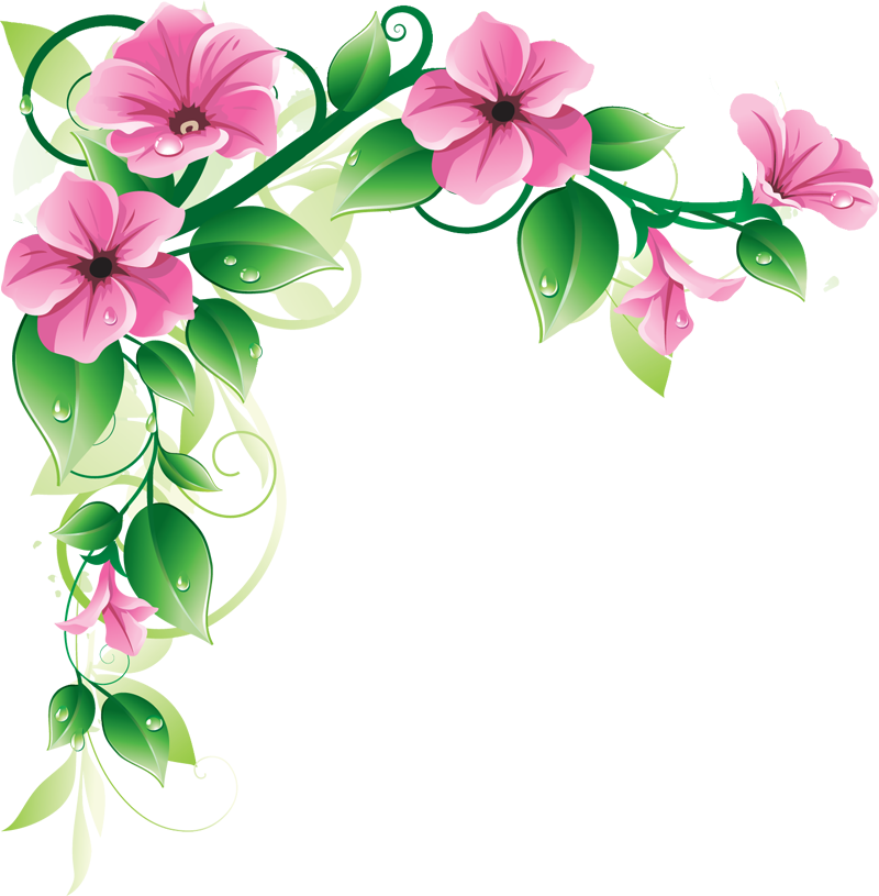 Latest green leaf and pink flowers border design hd my blog latest green leaf and pink flowers border design hd altavistaventures